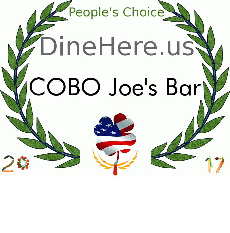 COBO Joe's Bar DineHere.us 2017 Award Winner